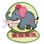 baby easel card