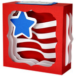 american flag gift card box