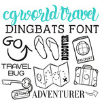 cg world travel dingbats