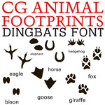 cg animal footprint dingbats