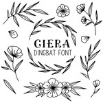 ciera dingbat font floral illustrations