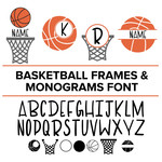 basketball frames and monograms font