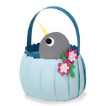 cute narwhal basket