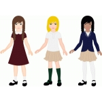 uniform clothing for lizzy paper doll