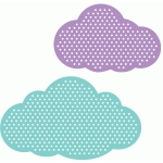 set of 2 polka dot clouds