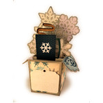 snowflakes and cocoa box card