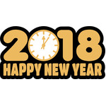 clock happy new year 2018
