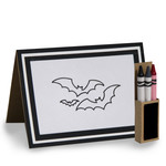 4 in x 5.5 in bat coloring card and crayon box