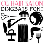 cg hair salon dingbats