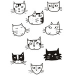 cat coloring stickers