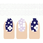 nail design flowers and dots