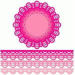 12 inch doily border set multi moon edge