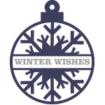 winter wishes snowflake bauble