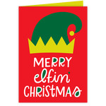 merry elfin' christmas card