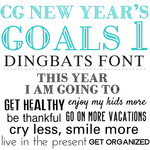 cg new year's goals dingbats 1