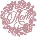 floral mom wreath