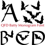 qfd batty monogram font