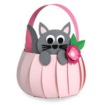 cute kitty basket