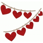 heart pennant flags