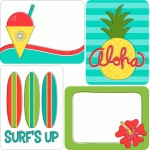 tropical 3x4 journaling cards