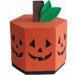 jack-o-lantern hexagon box