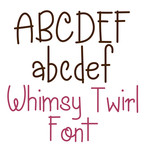 whimsy twirl font