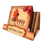 mother's day flower step card