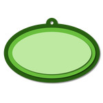layered oval tag