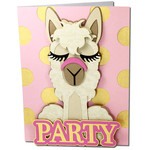 llama party card