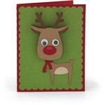 bobble head card reindeer