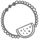 watermelon doily monogram frame