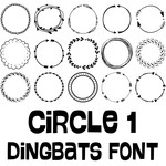 circle 1 dingbats