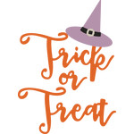 trick or treat and witch hat