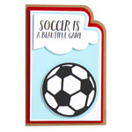 super layered soccer ball card
