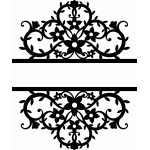 split flourishes damask