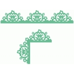 ornate garden floral repeat border and corner