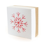 Embroidered Snowflake Box