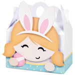 blond girl easter box