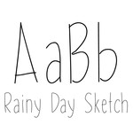 rainy day sketch font