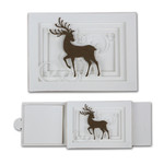 deer sliding shadow card