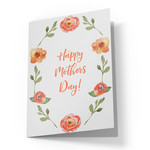 happy mothers day wreath card