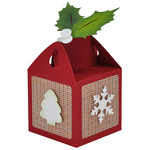 christmas holly topper treat box