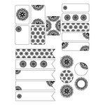 black and white flower stickers