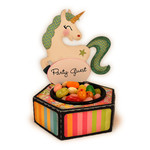 unicorn candy cup place card
