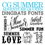 cg summer adventures dingbats