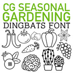 cg seasonal garden dingbats