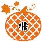 pumpkin diamond monogram frame
