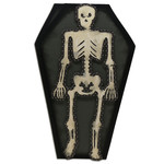 skeleton coffin card