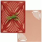 a2 card wrap set: lattice lace