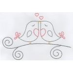 love birds embroidery pattern